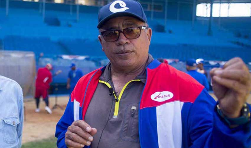 Manager of the Cuban baseball team, Miguel Borroto