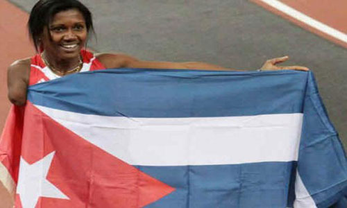 Cuban athlete Yunidis Castillo