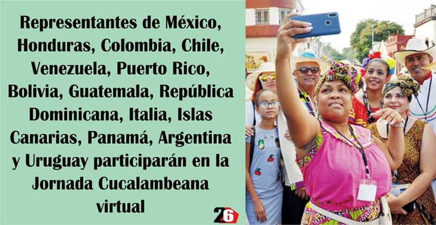 Representatives from some 18 countries participate in this online edition of the Cucalambeana Fiesta